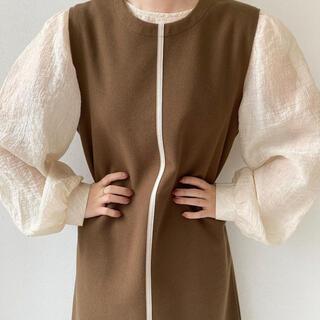 Kastane - leather line vest brown 【i_am_official】