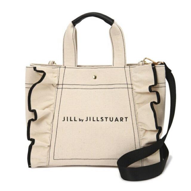 JILL by JILLSTUART(ジルバイジルスチュアート)の正規品 完売品 入手困難 ジルバイジルスチュアート  フリルトートバッグ(大) レディースのバッグ(トートバッグ)の商品写真