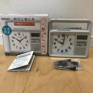 セイコー(SEIKO)の多機能防災時計 KR885N(置時計)