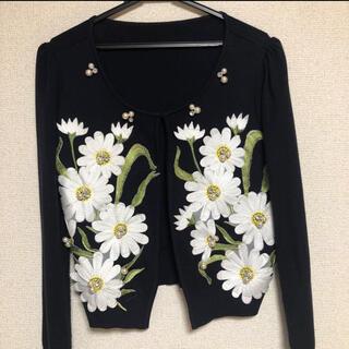 tocco - tocco closet 花柄刺繍カーディガン