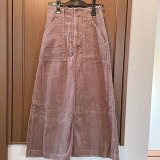 ダブルクローゼット(w closet)のw closet コーデュロイ ロングスカート(ロングスカート)