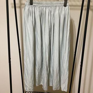 ユニクロ(UNIQLO)のUNIQLO ドレープギャザーロングスカート 新品(ロングスカート)