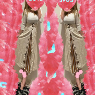 Rirandture - コーデセット♡スカラップリブトップス+2wayトレンチ風スカート♡