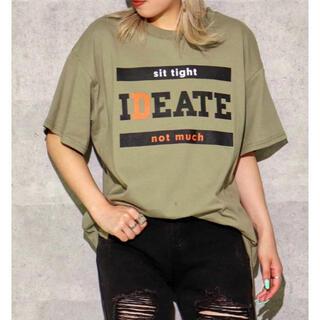 アナップ(ANAP)の☆ANAP☆      フロントプリントスリットTシャツ (Tシャツ(半袖/袖なし))
