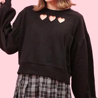 ダブルシー(wc)の新品♡WC♡ハート穴あきスウェット♡トレーナー♡(トレーナー/スウェット)