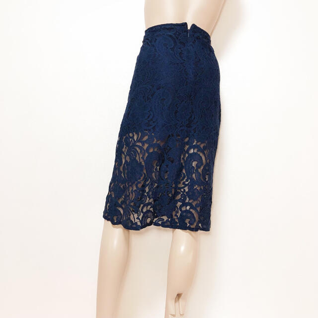 REDYAZEL(レディアゼル)のREDYAZEL レース スリット スカート*デュラス リゼクシー リエンダ レディースのスカート(ひざ丈スカート)の商品写真