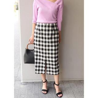Noble - NOBLE ギンガムチェックフープジップタイトスカート