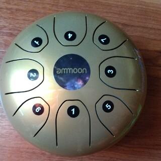 タングドラム スリットドラム 5.5インチ 8音 ゴールド(パーカッション)
