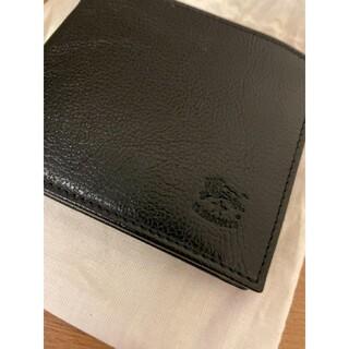 イルビゾンテ(IL BISONTE)の【新品】イルビゾンテ 二つ折り財布 BLACK ブラック(折り財布)