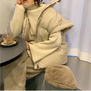 【didot】wide padding vest ダウンベスト