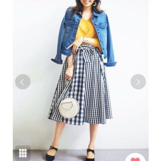 リュリュ(RyuRyu)の完売品☆チェックプリント切り替えスカート(ひざ丈スカート)