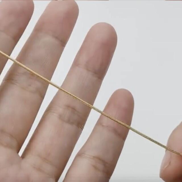 TODAYFUL(トゥデイフル)のシンプル スネーク ネックレス ゴールド ステンレス スネークチェーン レディースのアクセサリー(ネックレス)の商品写真