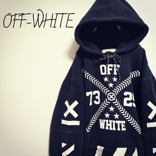 OFF-WHITE - 【大人気】off-white プルオーバーパーカー