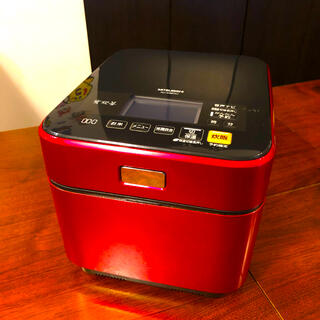 三菱 - 三菱電気 5.5合炊き NJ-XSB10J-R  IHジャー 炊飯器 蒸気レス