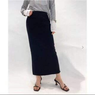DEUXIEME CLASSE - AP STUDIO スムース タイト スカート ブラック