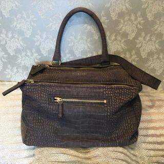 ジバンシィ(GIVENCHY)のジバンシー クロコダイル ショルダー付きバッグ(ショルダーバッグ)