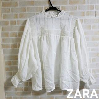 ZARA - 【本日削除/最終値下げ】ZARA  キャンディスリーブ トップス