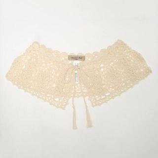 SM2 - サマンサモスモス 手編みかぎ針レース付け衿 キナリ