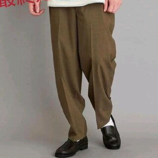 スティーブンアラン(steven alan)のSUPER BAGGY TAPERED HALF EASY PANTS-JUST(スラックス)