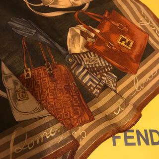 FENDI - 未使用 フェンディ ハンカチスカーフ 激渋 ブラック Masterpiece