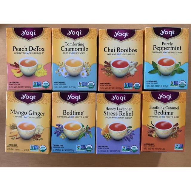 yogi tea のカフェインフリー ハーブティー 16個 お試しセット 食品/飲料/酒の健康食品(健康茶)の商品写真
