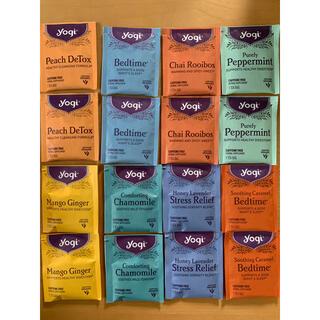 yogi tea のカフェインフリー ハーブティー 16個 お試しセット