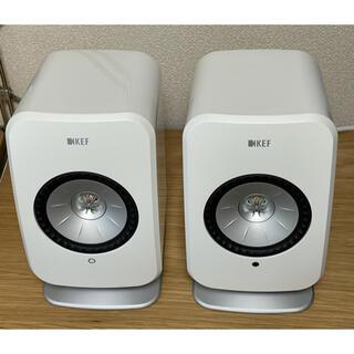 KEF LSX スピーカー ワイヤレス グロスホワイト デスクスタンド付き