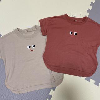 西松屋 - 西松屋 おめめTシャツ 2点SET 90㎝