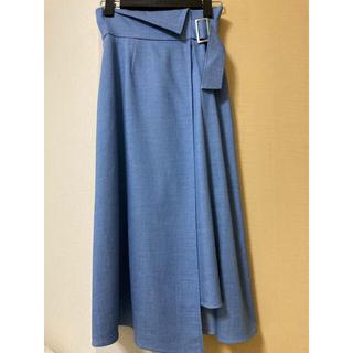 ANAYI - 美品春夏♡ANAYIデニム調スカート・ブルー♡34サイズ
