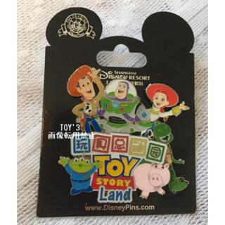 トイストーリー(トイ・ストーリー)の上海ディズニー トイストーリー ToyStory エイリアン ピンバッジ(バッジ/ピンバッジ)