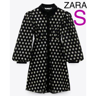 ZARA - 新品ZARA メタリックスレッドシャツワンピースS