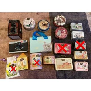 カファレル缶猫ちゃんセット+カメラ缶(小物入れ)