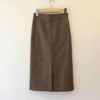 マカフィー(MACPHEE)のMACPHEE ブラウンチェック スカート(ひざ丈スカート)