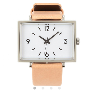 ムジルシリョウヒン(MUJI (無印良品))の無印良品 腕時計・駅の時計 バンド:ヌメ革 型番:MJ‐SCW2(腕時計(アナログ))