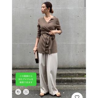 ENFOLD - RIM.ARK sleeve cross knit tops