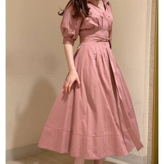 snidel - スナイデル シャツディテールワンピース ピンク 1サイズ 正規品 美品