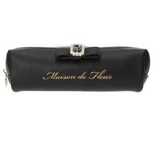 メゾンドフルール(Maison de FLEUR)のMaison de FLEUR パールビジュー合皮リボンペンケース(ペンケース/筆箱)
