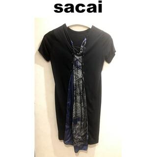sacai - sacai バックレースアップ ワンピース サカイ