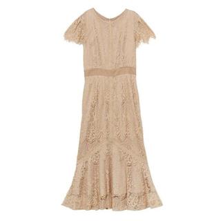 ラグナムーン(LagunaMoon)のラグナムーン ドレス ベージュ 結婚式(ミディアムドレス)