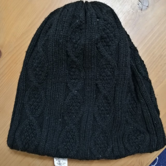DIESEL(ディーゼル)のDIESEL ニット帽 黒 レディースの帽子(ニット帽/ビーニー)の商品写真
