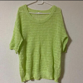 レトロガール(RETRO GIRL)の透かし編みプルオーバー(カットソー(半袖/袖なし))