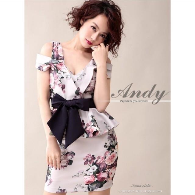 Andy(アンディ)のアンディ キャバクラ ドレス キャバドレス オフショル 花柄 フラワー ペプラム レディースのフォーマル/ドレス(ナイトドレス)の商品写真