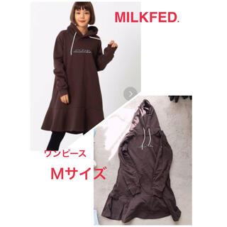ミルクフェド(MILKFED.)のMILKFED パーカーワンピース(ミニワンピース)