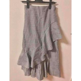 GRL - グレンチェック柄ロングスカート