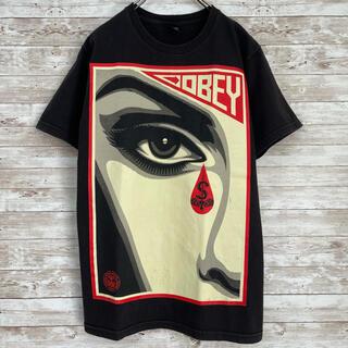 オベイ(OBEY)の【オベイ】 OBEY メキシコ製 Tシャツ ラバープリント ブラック S(Tシャツ/カットソー(半袖/袖なし))