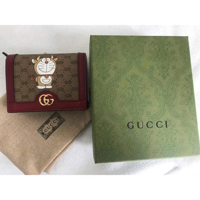 Gucci(グッチ)の☆グッチxドラえもん ミニウォレットカードケース☆イタリア製 正規新品 送込 レディースのファッション小物(財布)の商品写真