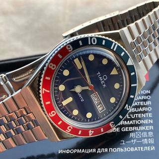タイメックス(TIMEX)のTIMEX Q ペプシカラー 70s 復刻  / BAMBI ステンレスブレス (腕時計(アナログ))