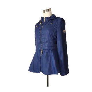 イタリア購入 ペプラムフレア薄手中綿ダウンジャケット