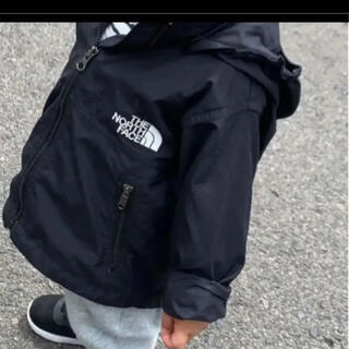 THE NORTH FACE - ノースフェイス コンパクトジャケット フード付き ブラック 黒 お揃い ベビー