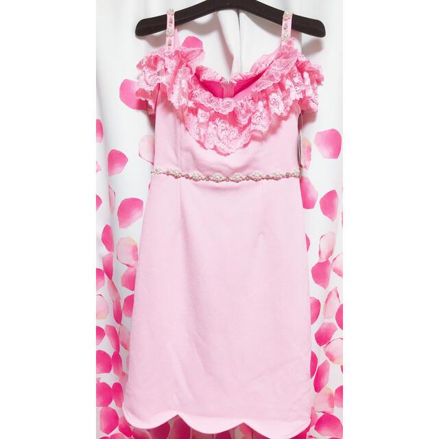 dazzy store(デイジーストア)のデイジーストア 胸元レース パール ビジュー ミニドレス  Sサイズ 新品未使用 レディースのフォーマル/ドレス(ミニドレス)の商品写真